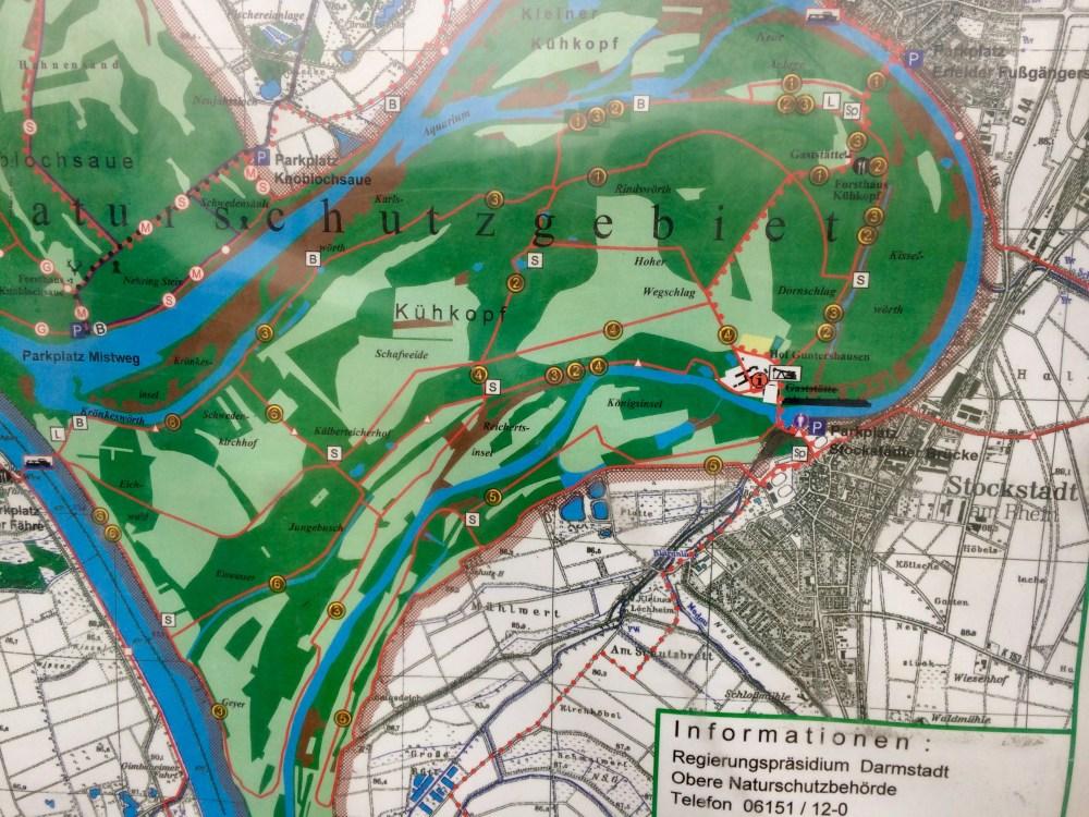 Karte Naturschutzgebiet Kühkopf | Copyright: Anja Heuer
