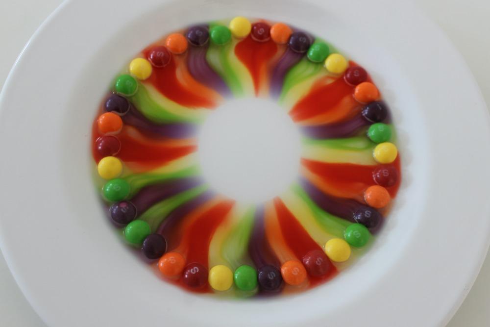 Regenboog van Skittles