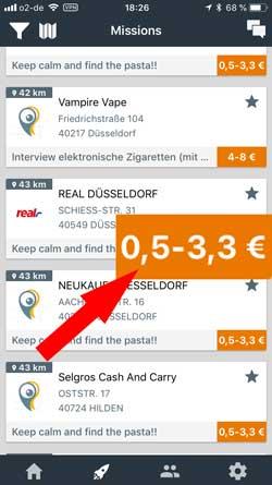 von-bis  Microjobbing –  €463,10 in 22,5 Stunden BeMyEye von bis