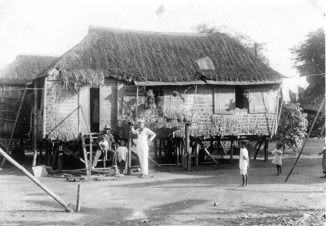 Eingeborenen Haus Manila