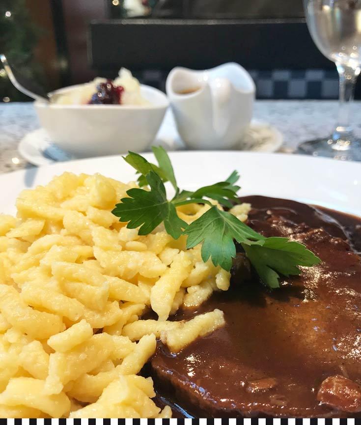 Sauerbraten – als Mittagsgericht oder als Tiefkühlgericht zum Mitnehmen
