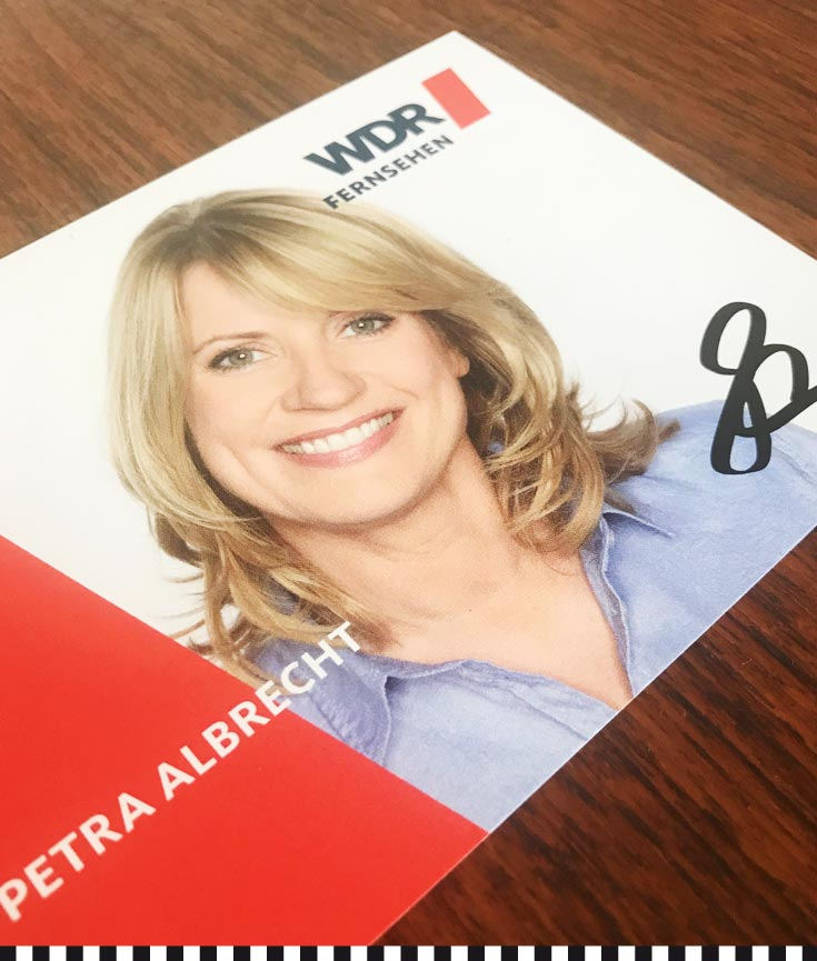 Hat sie nie dabei: die WDR-Autogrammkarte