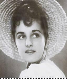 Gisela Fieger als junge Frau