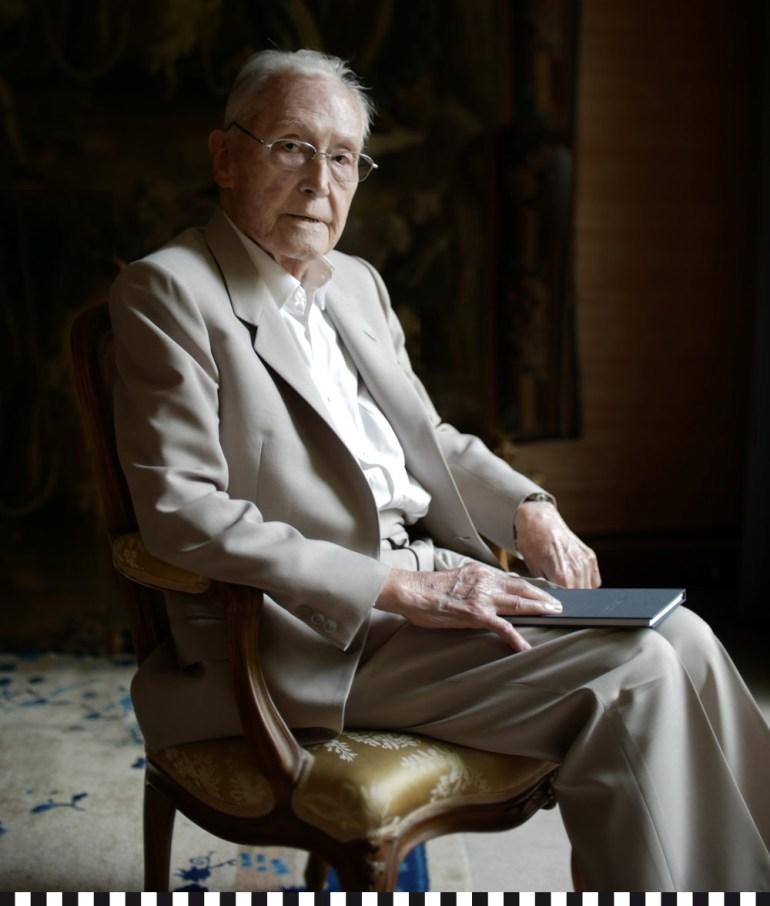 Portrait des Hundertjaehrigen Franz Josef Fieger