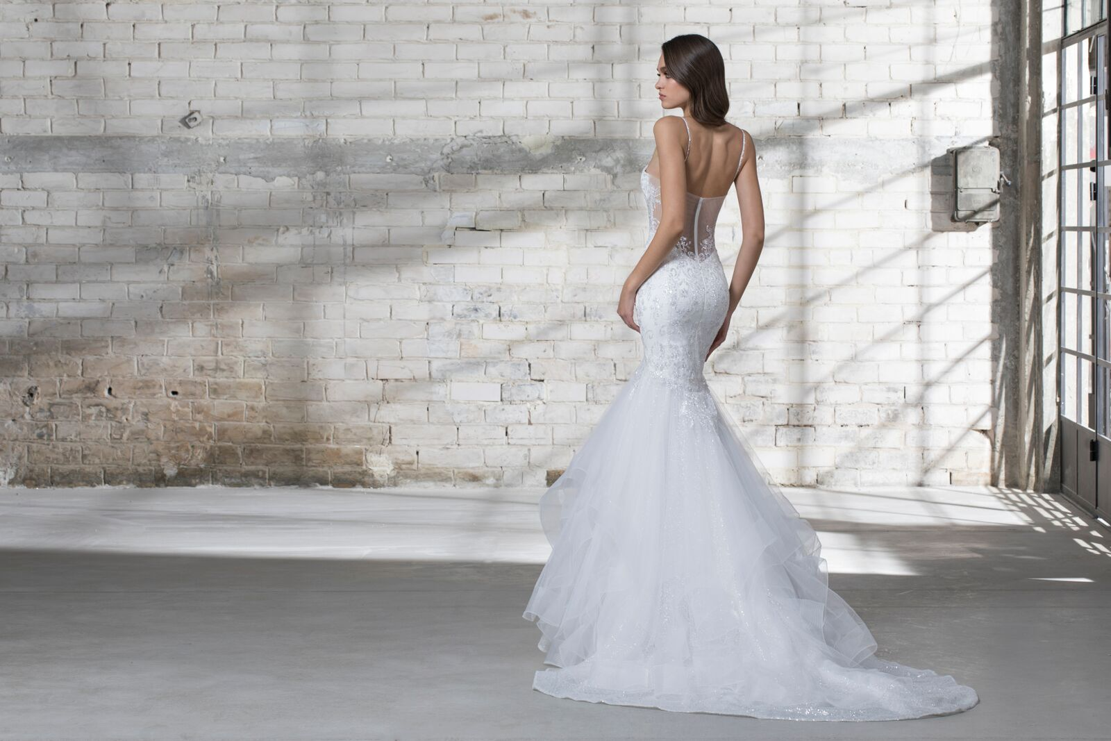 Mermaid Spaghetti Strap Wedding Dress
