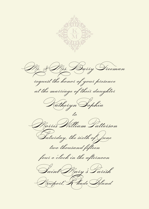 Wedding Invitation Wording Grooms Pas Couple
