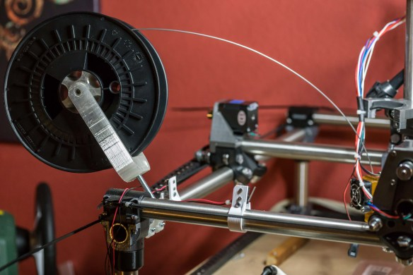 Spool holder postion