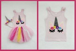 Einhorn Kostüm selber machen (für Kinder) – DIY Anleitung Einhorn Top