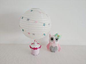 Heißluftballon Dekoration für das Kinderzimmer – Basteln für Kinder mit einem Lampenschirm