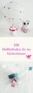 DIY, Basteln, Heißluftballon aus Lampenschirm
