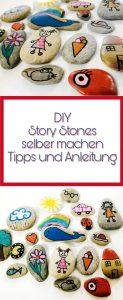 Eine tolle Idee um Steine zu bemalen. Erzählsteine einfach selber machen. Ideen und Anleitung für Story Stones.
