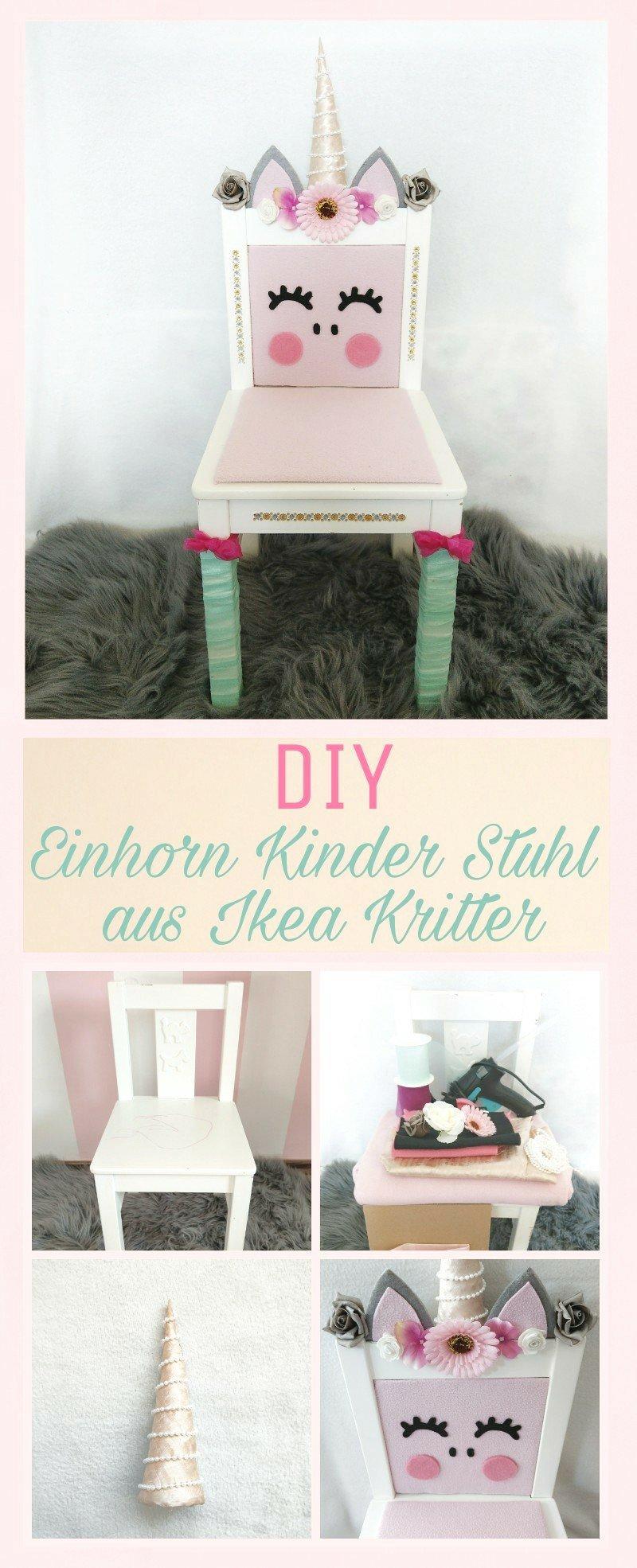 Heute zeige ich euch wie ihr aus einem Ikea Kitter Kinderstuhl einen süßen Einhorn Stuhl zaubern könnt. Einfach Selbermachen mit Schritt-für-Schritt Anleitung.