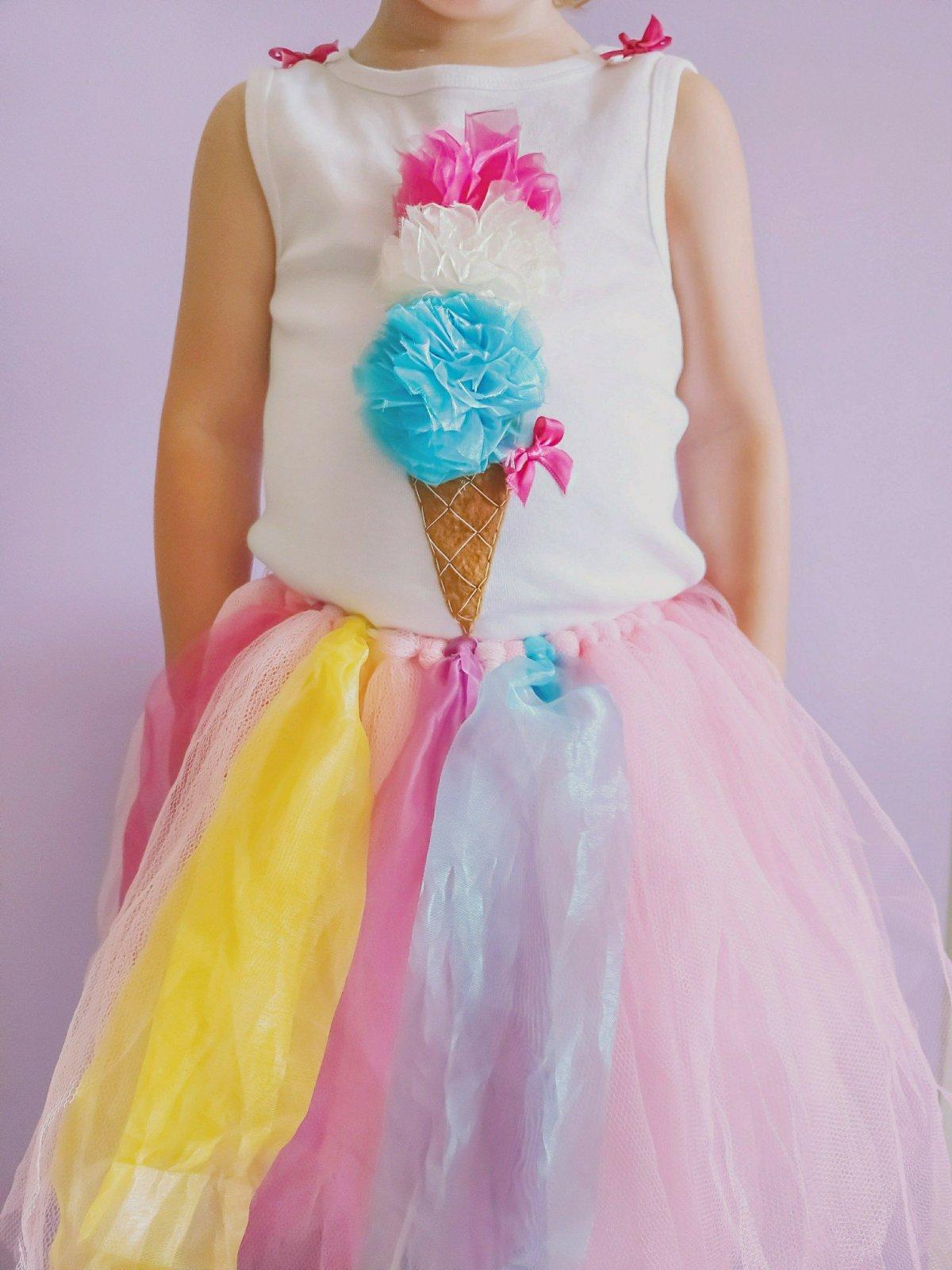 Ein DIY Eis T-Shirt für Kinder ist superschnell gemacht, sieht niedlich aus und ist eine tolle Idee zum selbermachen für den Sommer