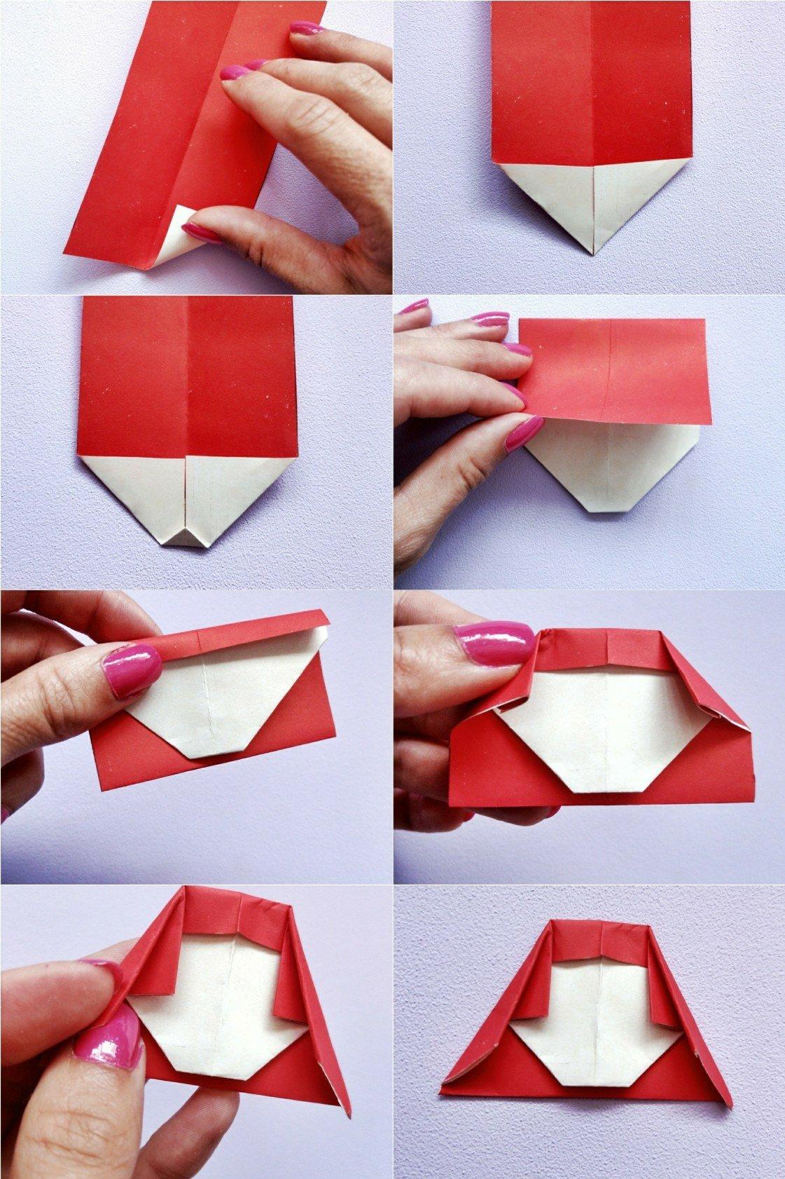 Ein Origami Mädchen mit langen Haaren aus Papier falten