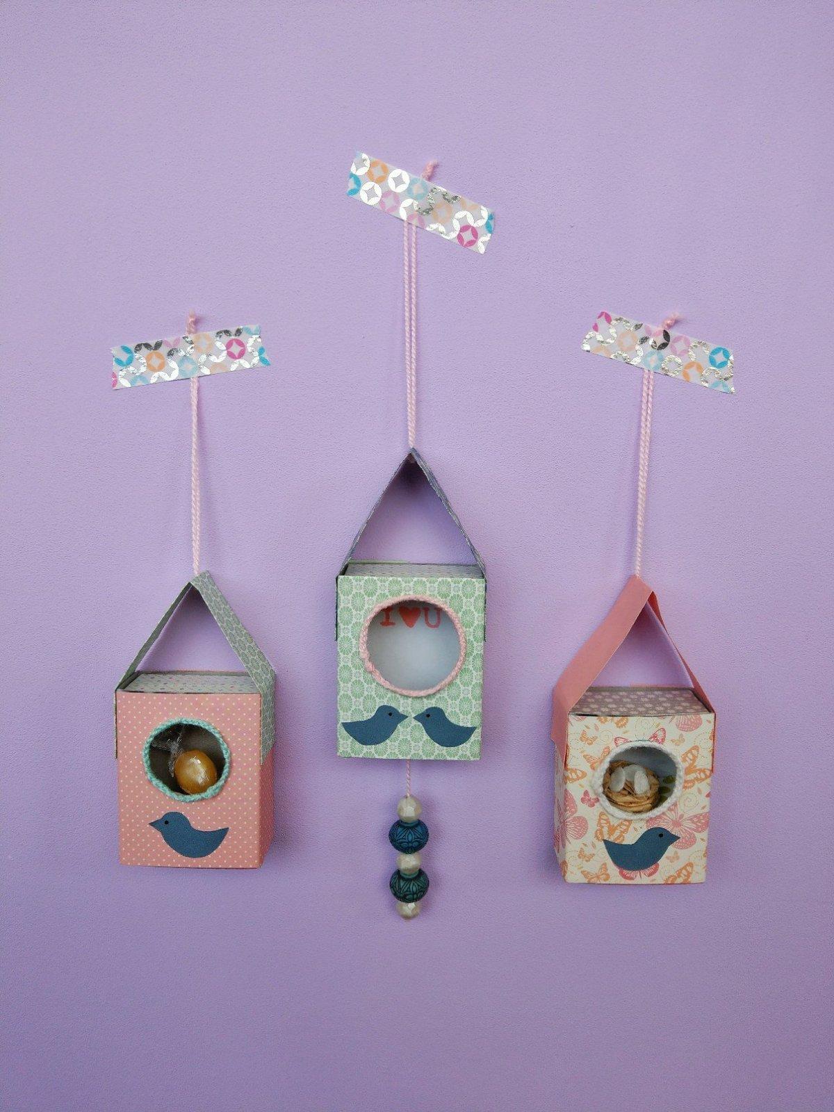 Hier zeige ich euch wie ihr ein Vogelhaus aus Streichholzschachteln basteln könnt. Schritt für Schritt Anleitung