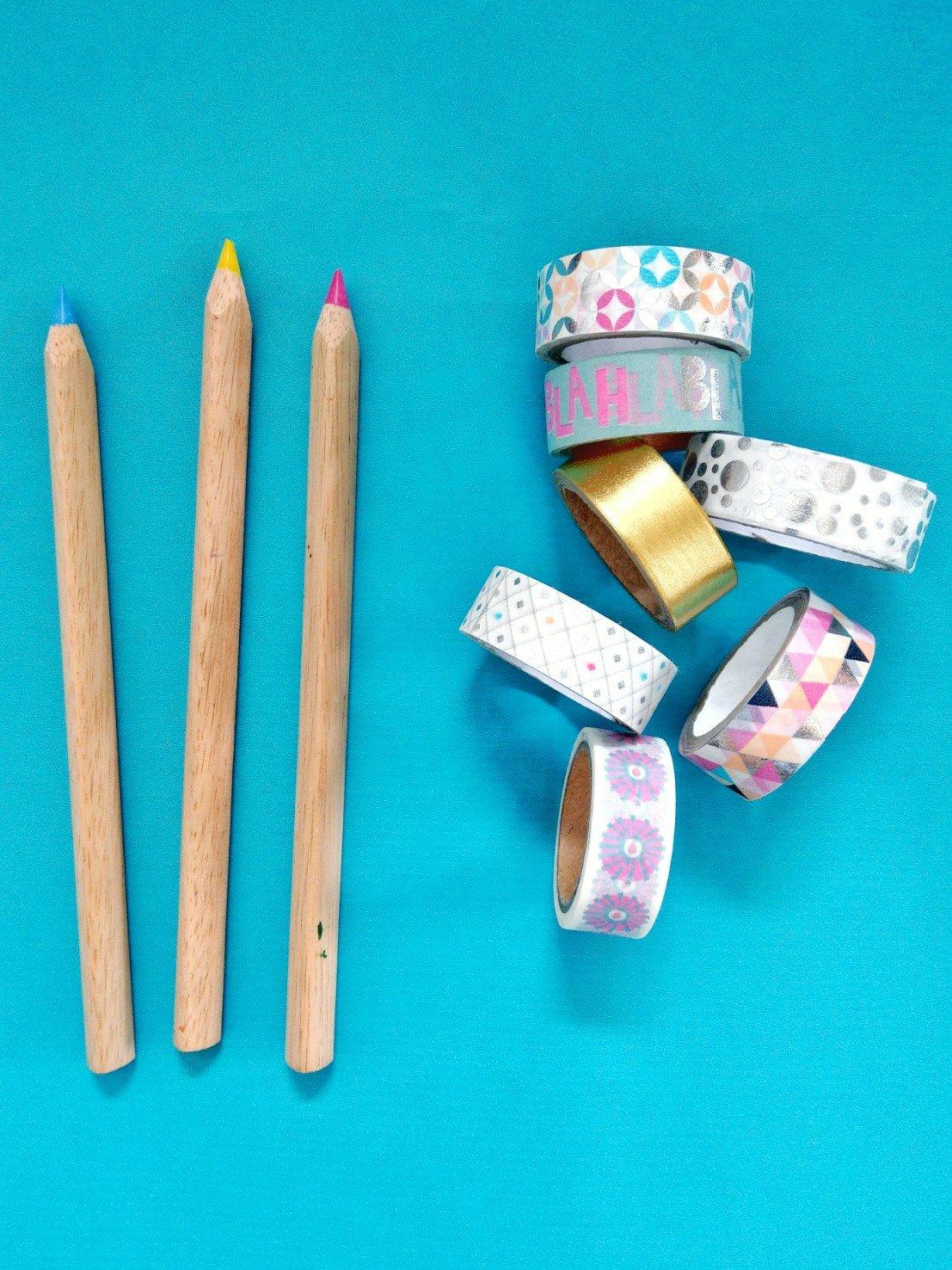 Stifte mit Washi Tape aufpimpen