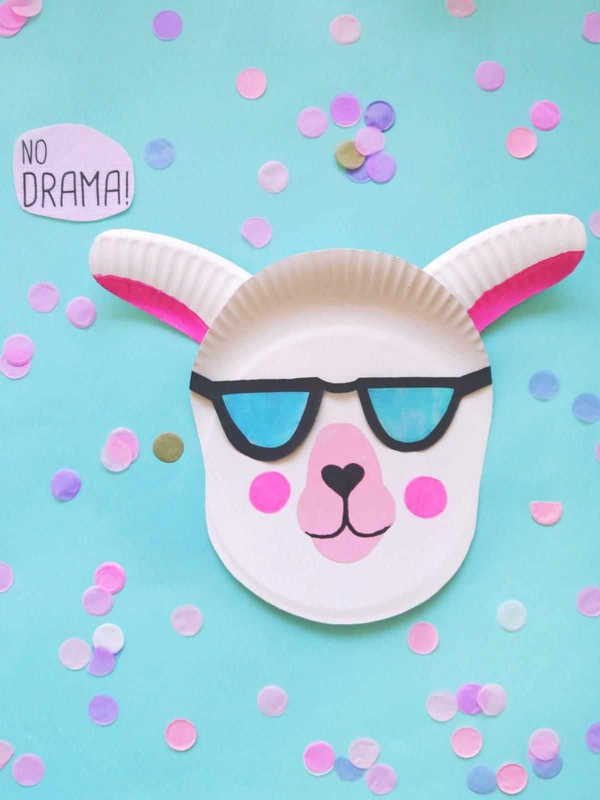 Cooles Lama mit Sonnenbrille zum selbermachen. No Drama Lama.