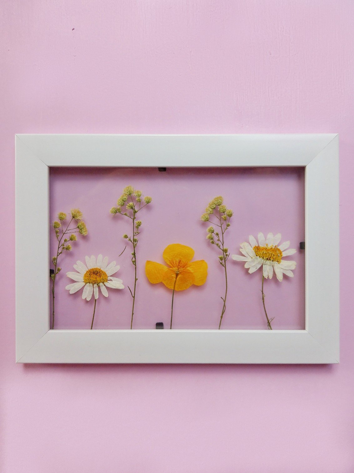 DIY Deko Idee aus getrockneten Blumen