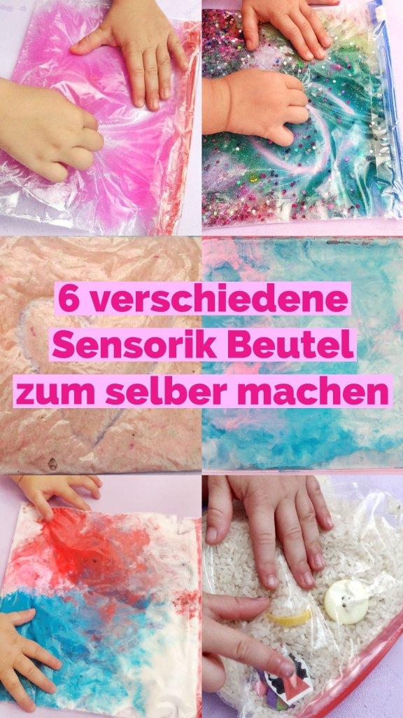 Heute zeige ich euch wie ihr Sensorik Beutel selber machen könnt. Die verschiedenen Arten eignen sich sowohl für Baby's als auch für Kinder. Eine einfache Spiel- und Beschäftigungsidee, die ganz ohne Kleckerei auskommt.