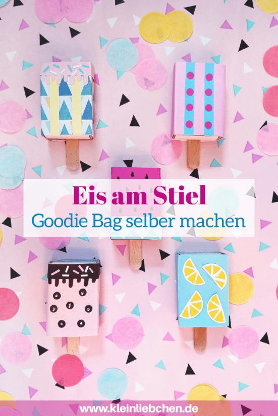 Heute zeige ich euch wie ihr ein Eis am Stiel Goodie Bag selber machen könnt. Eine tolle Geschenkidee für den nächsten Kindergeburtstag oder als Mitbringsel für zwischendurch.