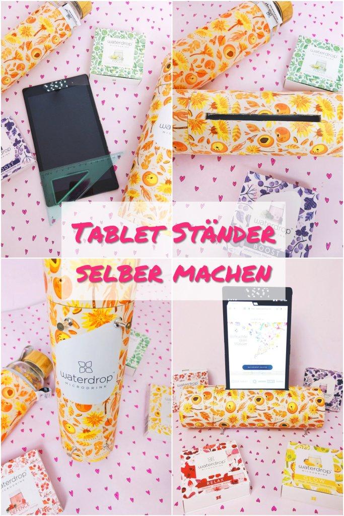 Heute zeige ich euch wie ihr einen Tabletständer ganz einfach und schnell aus einer runden Kartonverpackung selber machen könnt. Eine tolle kostenlose Idee zum selber machen.