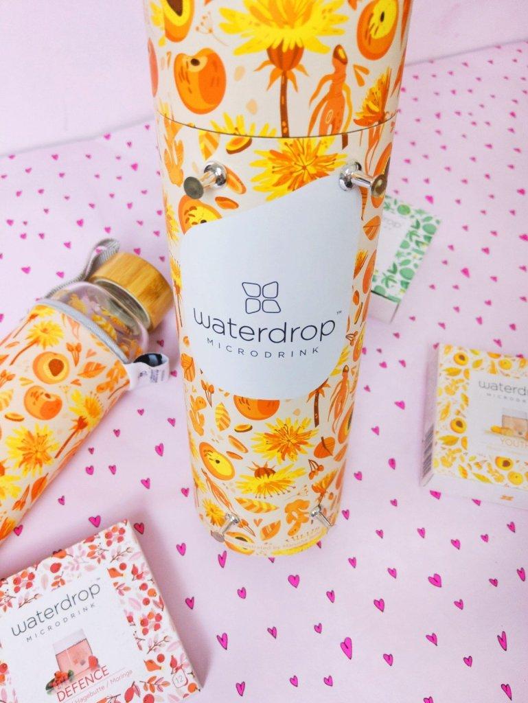 Waterdrop Flasche orange