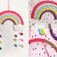DIY Regenbogen aus Pappe - Kinderzimmer Deko einfach selber machen
