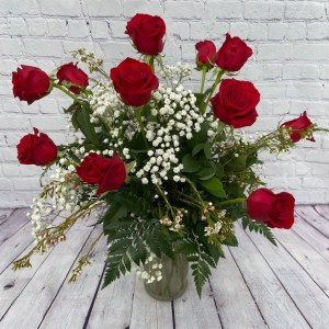 12 Roses Vased or Boxed