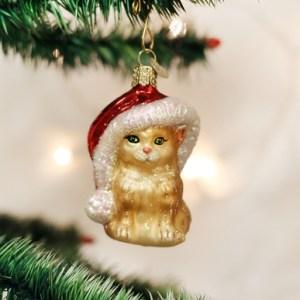 Santa's Kitten Ornament