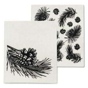 Pinecone & Branch Dishcloths