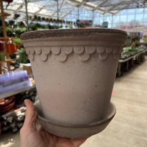 Bergs Koben Pot & Saucer Grey