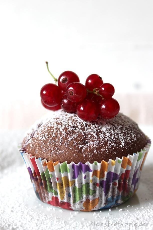 Johannisbeer-Schoko-Muffins vegan