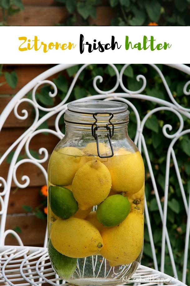 Im Wasser bleiben Zitronen länger frisch