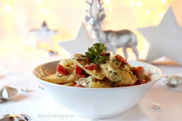 Bunter Kartoffelsalat zu Weihnachten
