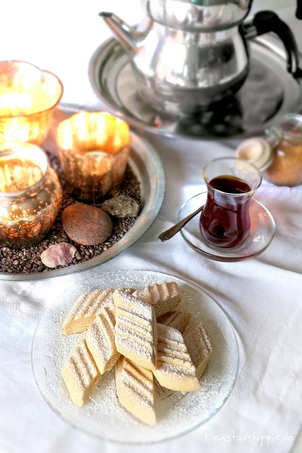 Un kurabiyesi - Türkische Mehlkekse vegan