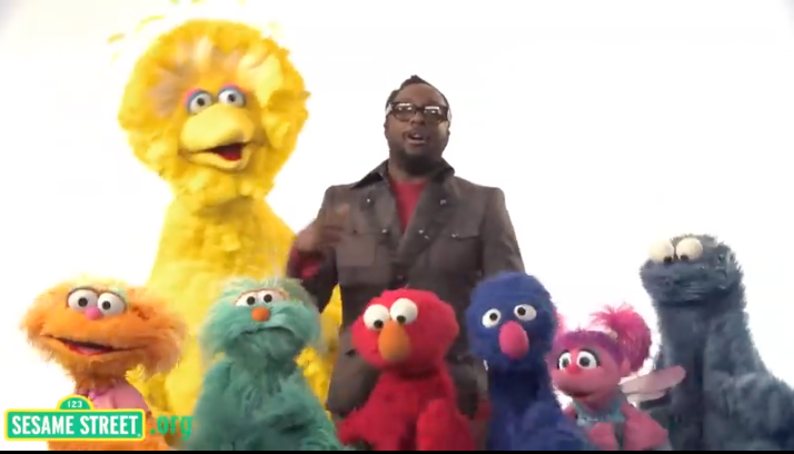will.i.am goes Sesame Street