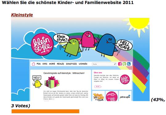 kleinstyle, schönste Kinderwebseite?! : Votet mit!