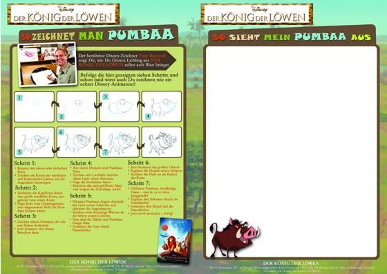Warzenschwein Pumbaa : Schritt für Schritt zeichnen!