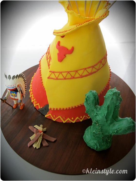 Cowboys und Indianer : Geburtstags-Tipi, …ähh, .. -Kuchen