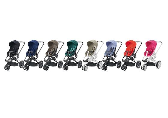 Quinny Moodd Kinderwagen Farbspektrum