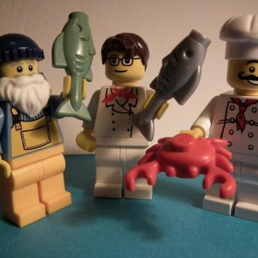 lego fish fight
