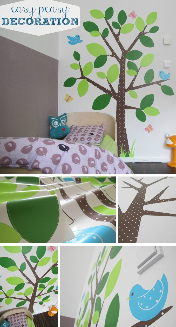 Decorate walls easily : with stickers!