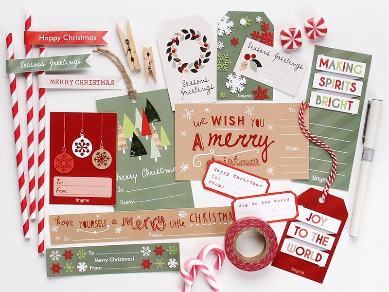 tinyme assorted xmas gift tags gratis download free printable