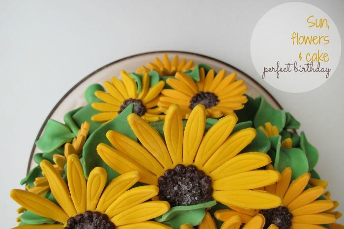 Sunflower birthday cake sun, flowers, cake perfect birthday Sonnenblumen Geburtstagskuchen by kleinstyle