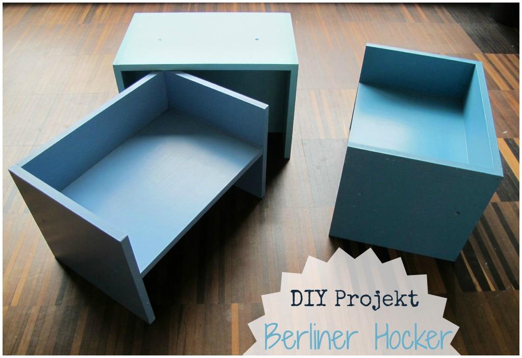 kleinstyle DIY Projekt Berliner Hocker Selbstgemacht Kinderzimmer Hocker, Regal, Spielutensil