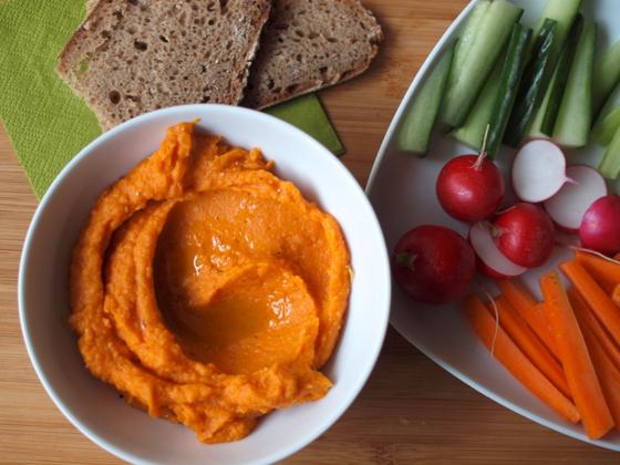 food, healthy, sweet potato, hummus, vegetable, children