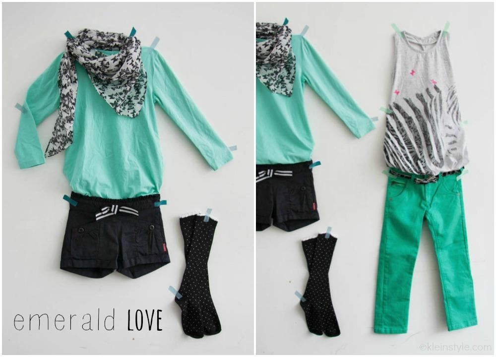 Mode Mittwoch mit Style des Monats auf kleinstyle, Kindermode von name it mit Farbe des Jahres Emerald Green