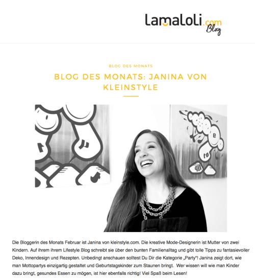Blog de Monats Interview auf lamaloli
