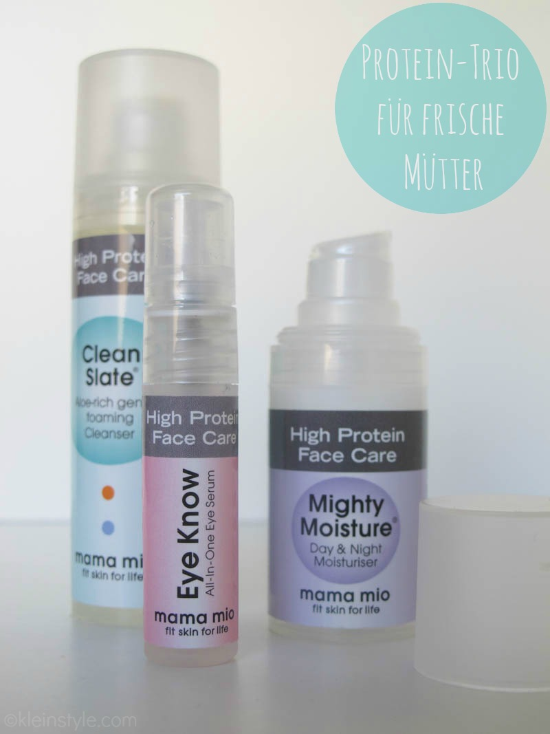 MAMA MIO testprodukte Try Me Trio High Protein Face Care by kleinstyle.com