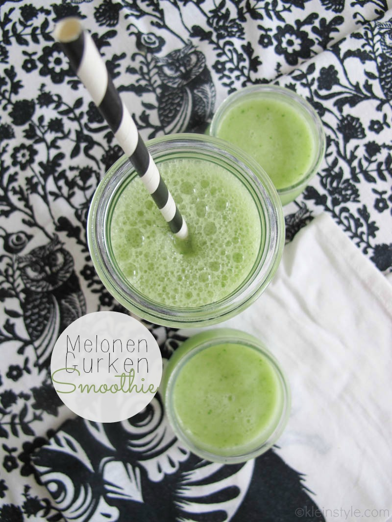 food friday familien und kinder rezept melonen gurken smoothie by kleinstyle